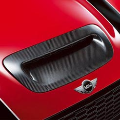 John Cooper Works Pro Air Intake Trim in Carbon Fiber