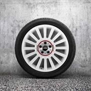 "MINI JCW 19"" Style 536 Aspen White Rallye Spoke Summer Complete Wheel & Tire Set"