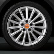"Style 505 Bright Silver - 17"" Multi-spoke Complete Wheel and Tire Set"