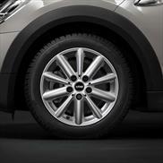 "MINI 16"" Style 508 Black Radial Spoke Winter Complete Wheel and Tire Set"