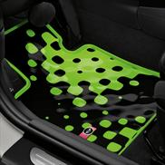 Vivid Green All Weather Floor Mats