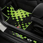 Vivid Green Carpeted Floor Mats
