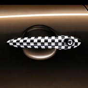 Door Handle Checkered Flag
