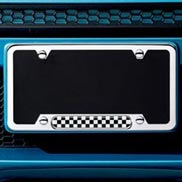 License plate frame - Checkered Flag
