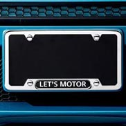 License plate frame - Let