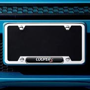 License plate frame - MINI Cooper S