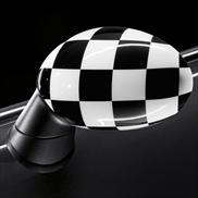 Checkered Flag Mirror Caps