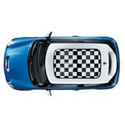Sun Roof Graphic, Checkered Flag