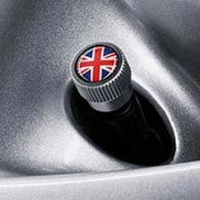 MINI Union Jack Valve Stem Caps