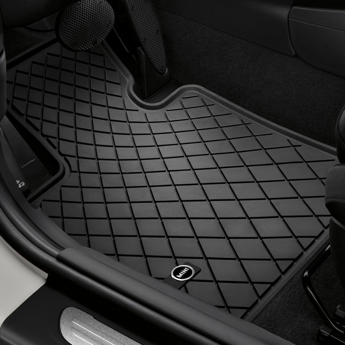 Shopminiusa Com Essential Black All Weather Floor Mats