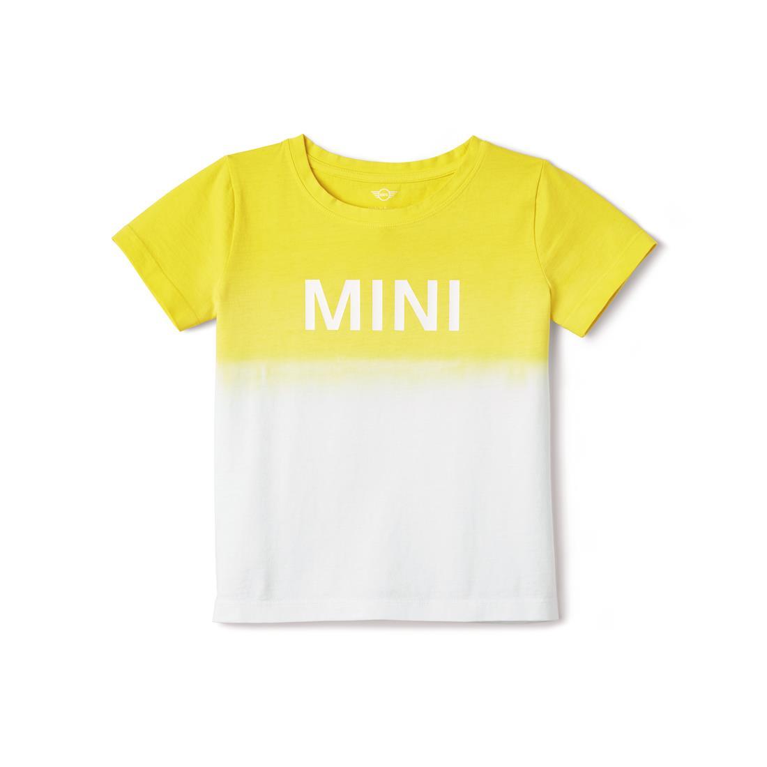 Shopminiusa Mini Kids Dip Dyed Contrast Wordmark Print T Shirt