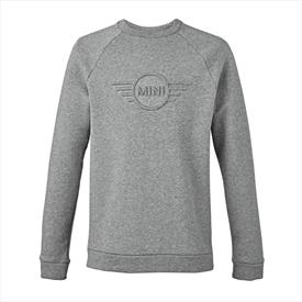 MINI Men's Embossed 3-D Wing Logo Sweatshirt Grey