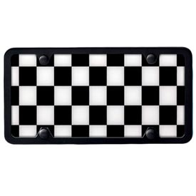 MINI Checkered Flag License Plate Insert